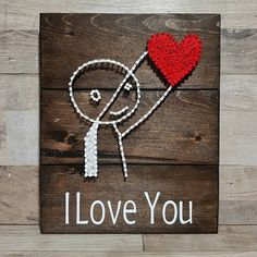 Valentine's day is just around the corner ❤ custom ordered i love you Valentine's gift done on #9 jacobean wood option. #stringart #kraftykels #crafts #summer #barnboard #handmade #homedecor #country #rustic #custom #reclaimedwood #wedding #nursery #mancave #brideandgroom #browning #hunting #farmhouse #farmhousedecor #wine #wooddesigns #iloveyou #valentinesday #love #heart