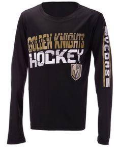 timeless design 05588 80682 Outerstuff Vegas Golden Knights Break Lines Long Sleeve T-Shirt, Little  Boys (4