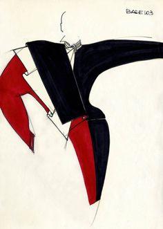 Fondazione Gianfranco Ferré / Collections / Woman / Prêt-à-Porter / 1982 / Fall / Winter Fashion Design Sketchbook, Fashion Design Portfolio, Fashion Illustration Sketches, Fashion Sketches, Fashion Drawings, Fashion Vocabulary, Gianfranco Ferre, New Romantics, Ferrat