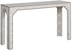 "Vanguard Furniture - Our Products - V126S-UT Bingham Upholstered Console Table 54.5""W x 15.5""D x 31""H"
