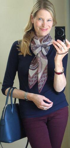 'Belles du Mexique' Hermes mousseline scarf in a Twist knot - MaiTai' s Picture Book