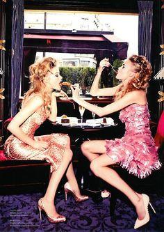 I LOVE you, but you can't have my hot fudge sundae. ;) (Camilla Christensen & Emma Stern Nielsen by Ellen Von Unwerth for Vs. S/S 2014)
