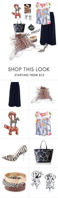 """Welcome to my Jungle🐒🐂🐆"" by parnett ❤ liked on Polyvore featuring Roksanda, Herend, Sophia Webster, Armani Jeans, Erica Lyons and Bling Jewelry"