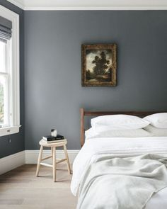 Schlafzimmer, Blau Graue Wand | Apartment | Pinterest | Bedrooms, Interiors  And Wand