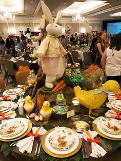 entertaining with style and ease Easter Table, Table Settings, Entertaining, Table Decorations, Home Decor, Style, Swag, Decoration Home, Room Decor