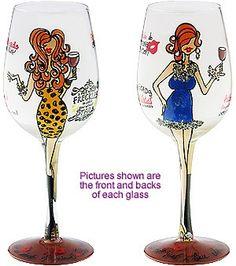 """Gingerlicious"" Wine Glass by 95 & Sunny (Hula Island)"