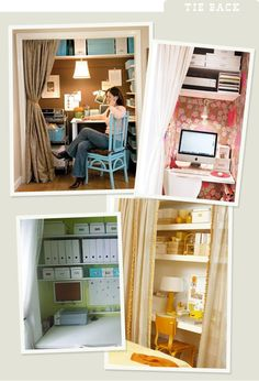 More Design Please - Closet Case: OfficeEdition - great ideas for desks and home offices in a standard closet!