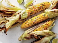 Grill-Steamed Corn with Cilantro and Chile Flakes   Cooking Light   Aleppo is a Middle Eastern ground pepper with moderate heat and fruity notes. You can substitute 1⁄2 teaspoon ground red pepper flakes. T...