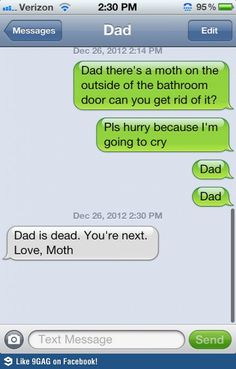 Moth outside bathroom funny meme | Funny weird viral pics...hahaha, oh if my dad ever did this i would probably just starve to death in the bathroom.