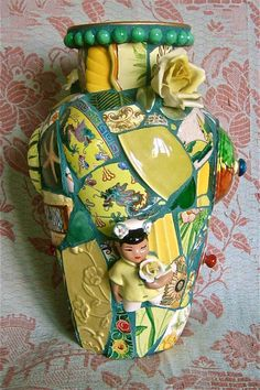 China Girl Vase by Norma Ryan