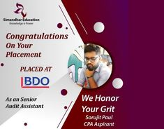 We're delighted to announce that we have placed our CPA Aspirant SORUJIT PAUL at BDO Rise in these unprecedented times. Covid-19 has been hard on everyone, we're glad you overcame these hurdles, your dedication and grit has paid off. Congratulations Sorujit Paul Think CPA, Think Simandhar #USCPA #Placement #simandhareducation #cpaexam #CPA #jobplacement #CPACareer #cpausa #uscpaexam #uscpaexaminIndia #cpaexaminindia #cpaexamindia #cpasyllabus #education #onlinetraining #liveclasses Cpa Course, Digital Textbooks, Cpa Exam, Conceptual Framework, Financial Accounting, Experiential Learning, Operations Management, Financial Statement, Hurdles