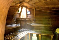 COB SAUNA-Sukita - Green Building and Natural Building in Portland Oregon - Earthen Structures Gallery Luz Natural, Outdoor Sauna, Finnish Sauna, Sauna Room, Underground Homes, Steam Room, Natural Building, Modern Luxury, Building A House
