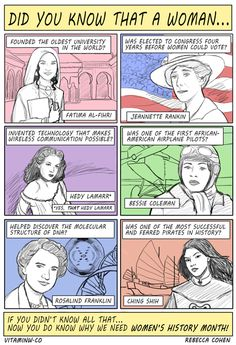 Women's History Month #facts #TMYK #TheMoreYouKnow