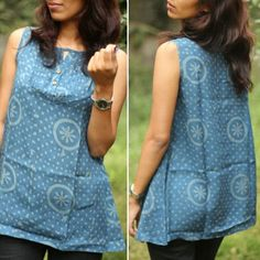 #onsale #organic Organic cotton top in a naturally dyed indigo print. The indigo dyed used is pure natural indigo and not the harmful synthetically manufactured dye. When you choose a Warm regards outfit, you can rest assured that it is ethically made with absolute integrity.  Originally priced at 3300 INR it's up for sale at 1600 INR. (24 dollars)  Available in size : Large Free shipping in India. An additional 200 INR for worldwide shipping. Do get in touch with us for further queries…