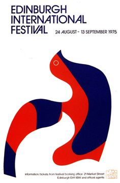 Zero poster for the Edinburgh International Fesifival 1975. He designed a whole graphic program for the festival from 1966 to 1978.