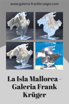 """Anyone who has ever spent time on Mallorca has certainly learned to love this island! It simply offers possibilities for every taste. The artist Frank Krüger brings the island to your home with his sculpture """"La Isla""""! The perfect gift for loved ones and also for yourself! Bull Painting, Mallorca Island, Sculptures, Lion Sculpture, Learn To Love, Beautiful Islands, First Love, Art Gallery, Bring It On"""