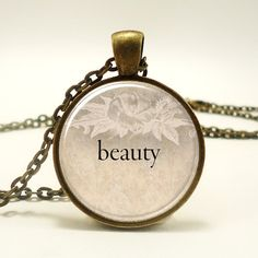 Custom Word Necklace Personalized Text Necklace Jewelry by rainnua, $19.45