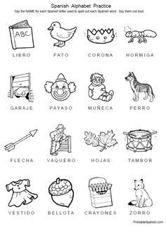 spanish printable worksheet house spanish worksheets for children espa ol para ni os. Black Bedroom Furniture Sets. Home Design Ideas