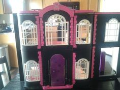 Monster high house I made for my daughter. Repainted over a high school musical house!