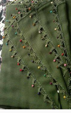 Very Popular Beaded Needle Lace Models Crochet Lace Edging, Crochet Flower Patterns, Bead Crochet, Baby Knitting Patterns, Crochet Flowers, Beautiful Dress Designs, Baby Dress Design, Tatting Jewelry, Needle Lace