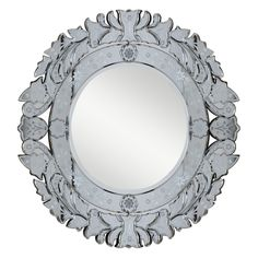 This mirror will accent a variety of tastes and styles. With its beautiful round design and reflective surfaces, this home mirror is bound to become the focal point of any room or living space.