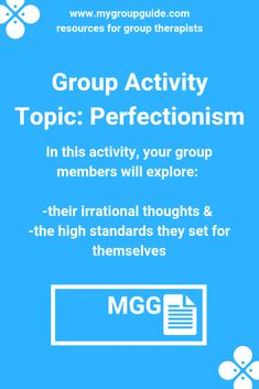 My Group Guide- Group Activity on Cognitive Distortions & Perfectionism