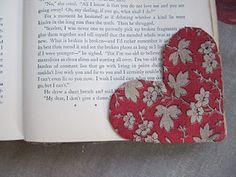 fabric heart bookmark