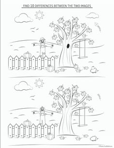 Fall preschool worksheets for free. So many fun ideas in this pack!