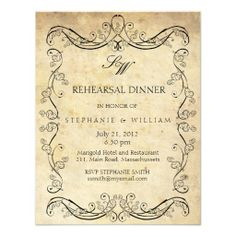 >>>Low Price Guarantee          Vintage Victorian Monogram Rehearsal Dinner Card Invitations           Vintage Victorian Monogram Rehearsal Dinner Card Invitations We have the best promotion for you and if you are interested in the related item or need more information reviews from the x custo...Cleck link More >>> http://www.zazzle.com/vintage_victorian_monogram_rehearsal_dinner_card_invitation-161649934595333653?rf=238627982471231924&zbar=1&tc=terrest