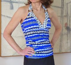 Is it tankini time already? But since a bright tankini is my favorite over 50 swimwear style, I'm ready to hit the beach! Swimwear Fashion, New Day, New Outfits, Bathing Suits, Tankini, Crochet Top, Swimsuits, Bright