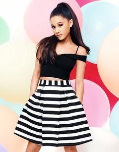 Ariana Grande For Lipsy Sweetheart Bardot Crop Top