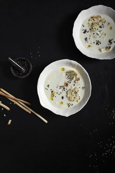 cauliflower coconut and sesame soup