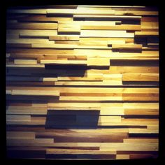 Stacked wood wall