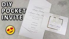 DIY Pocketfold Invitation with Printable Pocket Template | Wedding Invit...