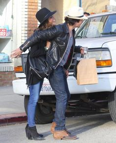 Ian Somerhalder & Nikki Reed Share Passionate Kiss During Venice Outing: Photo Ian Somerhalder and Nikki Reed kiss each other while doing some shopping at Stronghold Store on Monday (April in Venice, Calif. The actor and the… Ian Somerhalder Nikki Reed, Ian Somerhalder Vampire Diaries, The Vampire Diaries, Damon Salvatore, Nina Dobrev, Cute Couples Photos, Couple Photos, Louisiana, Venice Shopping