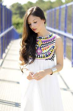 ...Etnic White Dress...