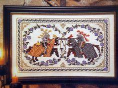 Just Cross Stitch Pattern Magazine by NeedANeedle on Etsy, $4.75 Medieval Knights Jousting