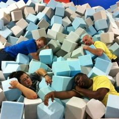 Our foam pits are really soft. (Naperville)