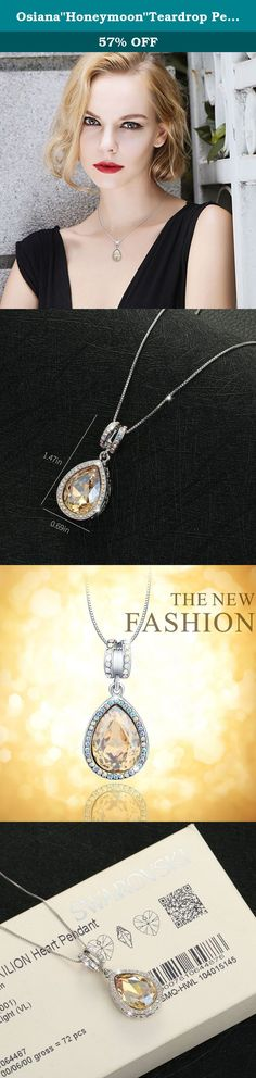 """Osiana""""Honeymoon""""Teardrop Pendan Necklace Gift With Swarovski Crystal 18K GP 18""""Champagne. Osianastyle specialize in fashion jewellery and creates elegant jewellery out of Silver,Stone,Alloy. About Customer Service We always have an eye to good customer service as we receive orders, and continue to create new ideas. If you have any question about order and product,pls send us message.We will reply your message within 24 HOURS.(Saturday is our Holiday). We are more than happy to help you…"""