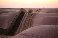 Les dunes Algodones entre l'Arizona (États-Unis) et la Basse Californie (Mexique)