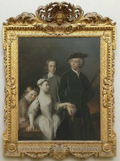 Allan Ramsay, Thomas, 2nd Baron Mansel of Margam, with his half-brothers and -sister, 1742, Tate; Photo: Fran Pickering