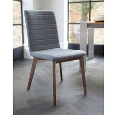Click to zoom - Parquet dining chair grey