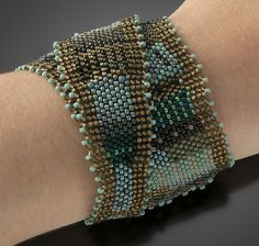Wrap Cuff, Turquoise Patina by Julie Powell: Beaded Cuff available at www.artfulhome.com