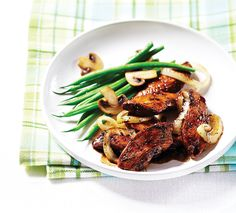 Dive into a delicious, protein-packed meal with Clean Eating's tangy balsamic chicken served alongside crisp beans and meaty mushrooms. Clean Eating is not a diet; it's a lifestyle approach t…