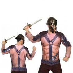 #Disfraz de #Camiseta #3D #Gladiador para Hombre #Divertida #camiseta en #3D, en tan solo segundos estarás listo para ir de fiesta sin necesidad de comprar accesorios estas camisetas lo llevan todo. En #mercadisfraces tu tienda de #disfraces #online disponemos del mayor stock en #disfraces #originales y #disfraces baratos para tus fiestas.