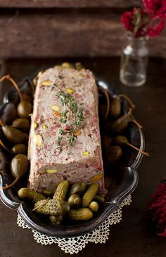 Country Pate Pistachios 3 by Yelena Strokin Country Pate, A Food, Good Food, Tapas, Pate Recipes, Mousse, French Food, Holiday Recipes, Food To Make