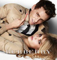 Burberry: Eddie Redmayne and Cara Delevingne   love them together!