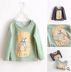 Aliexpress.com: Koop Nieuwe herfst 2015 schattige zebra baby meisjes jongens meisjes sweater met lange mouwen t  shirt katoenen kinderkleding vestidos infantil van betrouwbare kleding pakistan leveranciers op Vivi Fashion., LTD