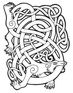 """celtic bear by ~MissSabrina on deviantART    """"Bear (Arth): Although the bear…"""