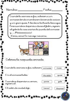 Fichas para trabajar la comprensión lectora - Imagenes Educativas Learning Spanish, It Cast, How To Plan, Education, Spanish, Frases, Reading Comprehension, Hipster Stuff, Learn Spanish